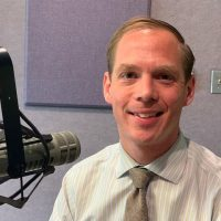 Photo of Buddy-to-Buddy Program Manager Bill Bryan in the Lucy Ann Lance Show studio