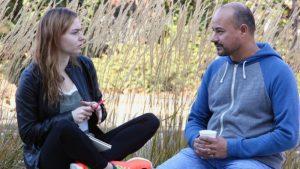 Photo of University of Oregon Peer Advisors  Caitlyn Sweat and Israel Garcia