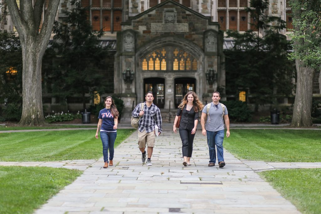 Students walking in Law Quad