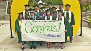 University of Oregon student veterans at graduation
