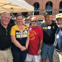 M-SPAN staff and supporters at September 15th UM Football tailgate