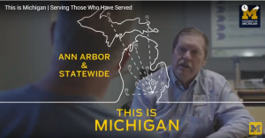 "Still image from a frame of the Buddy-to-Buddy ""This Is Michigan"" video"