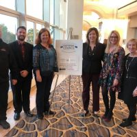 Photo of M-SPAN staff members at the November 2019 Bristol-Myers Squibb Foundation Grantee Summit