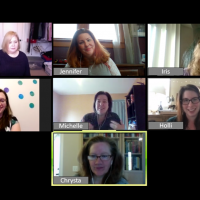 Screen shot of HomeFront Strong team meeting virtually on Zoom