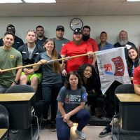 Group photo of student veterans at UNLV